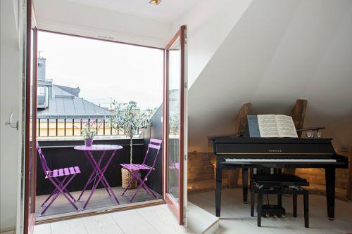 简欧风格复式阳台装修设计