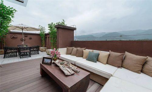 别墅阳台沙发装饰装修效果图设计
