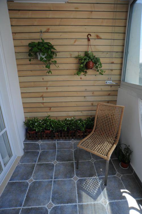 舒适地中海风格两居室阳台椅子图片