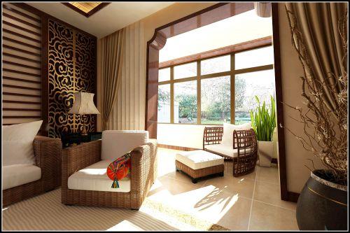 东南亚名族风四居室阳台装修图片