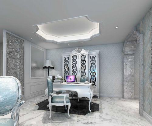 歐式風格清晰書房工作區設計