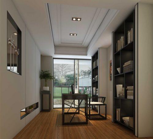79平米温馨中式风格书房书柜设计