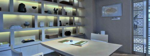书房收纳柜装修风格效果图