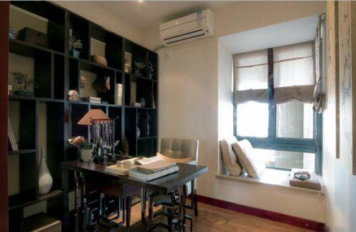 中式朴实家居书房飘窗图片