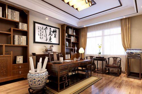 传统中式风格书房效果图