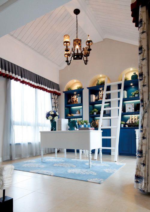 地中海书房吊顶图片