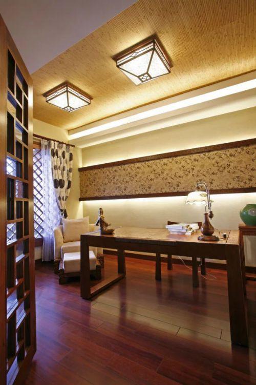 东南亚书房吊顶装修效果图