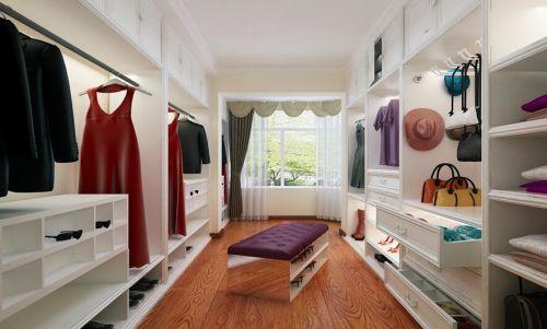 美式简约复式室内家居装饰衣帽间图片