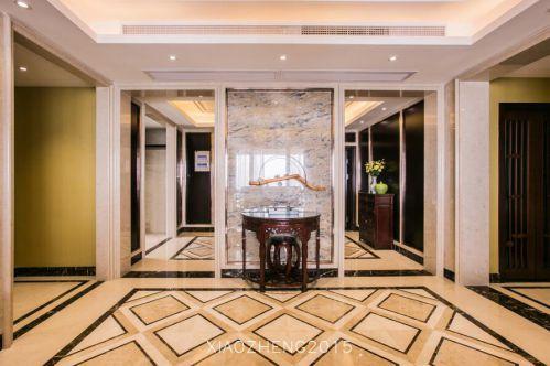 124平新中式风格家装玄关效果图展示