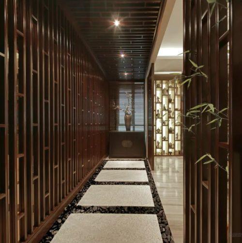 新中式风格玄关过道装修设计