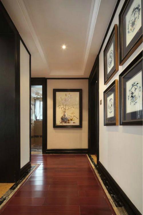 中式走廊照片墙玄关装修效果图