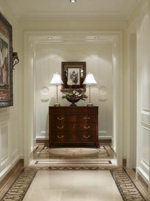 美式风格玄关收纳柜装修图片