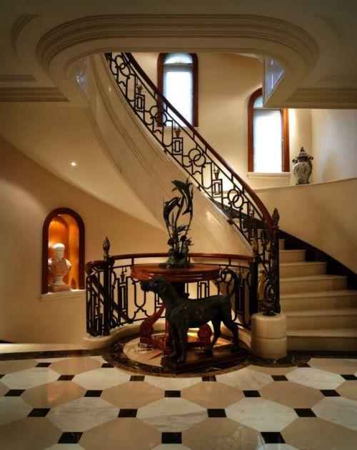 家装楼梯设计效果图法式风格