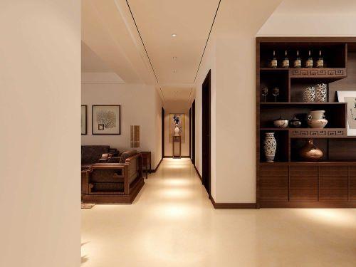 时尚中式三居室玄关吊顶设计