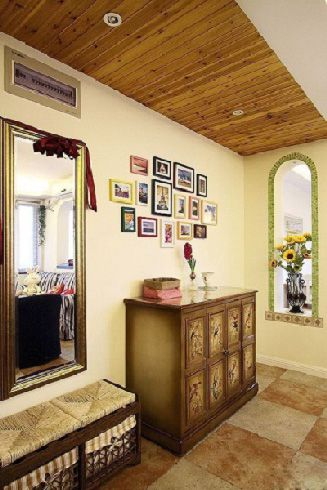 浪漫地中海家居玄关过道照片墙效果图