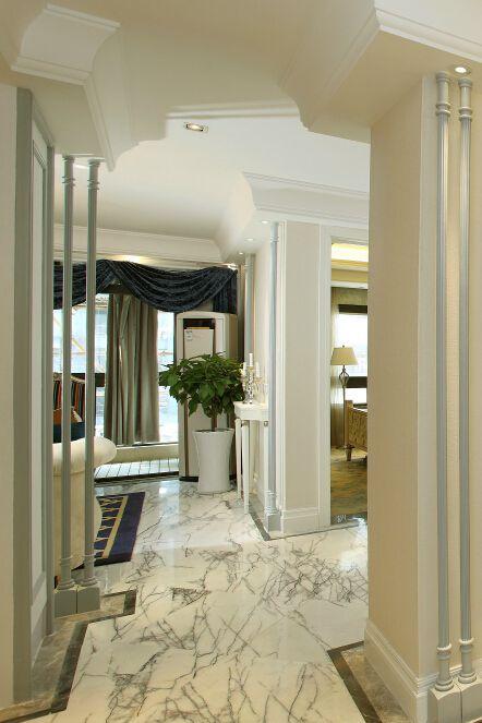 112平欧式三居室玄关设计效果图