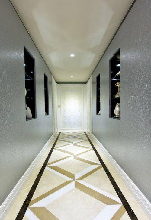 欧式风格走廊背景墙装修图片