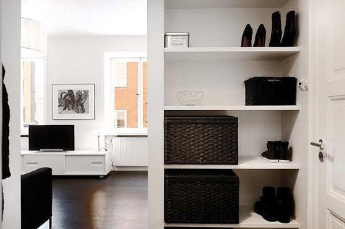 北欧风格公寓玄关鞋柜图片
