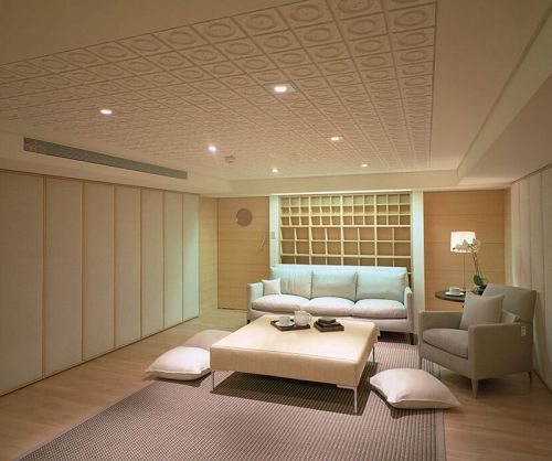 现代休闲日韩风格客厅装修效果图
