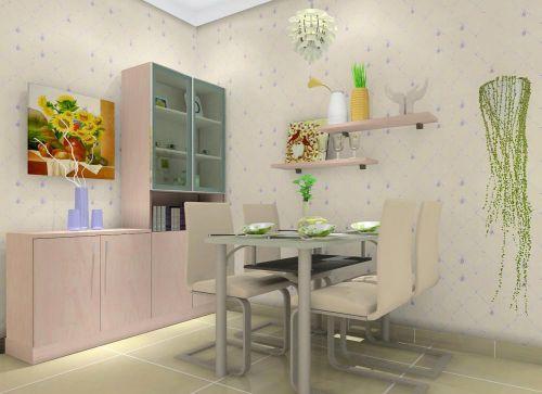 一居室现代风格客厅粉色鞋柜装修图片