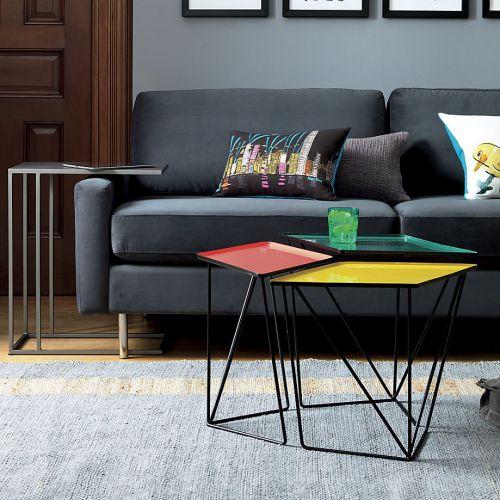 现代简约艺术氛围黑色客厅沙发装修效果图