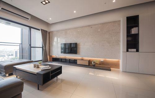 亮丽现代风格黑色客厅沙发装修实景图
