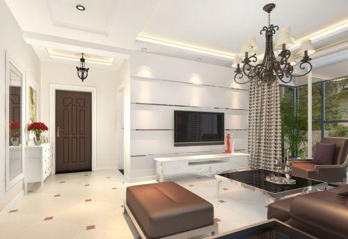 二居室现代风格客厅鞋柜装修图片
