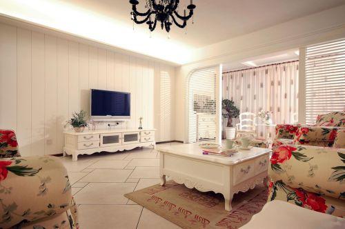 白色客厅现代风格清新乡村小别墅实景图