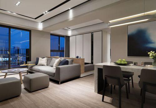 明亮开放现代风格客厅装修实景图