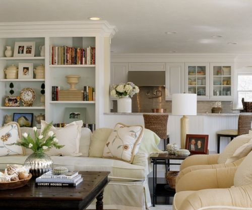 现代风格温馨白色客厅装修效果图