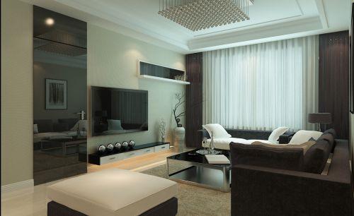 现代简约风格客厅黑色隐形门效果图