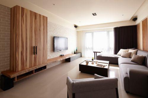 60平米老房现代简约客厅装修效果图