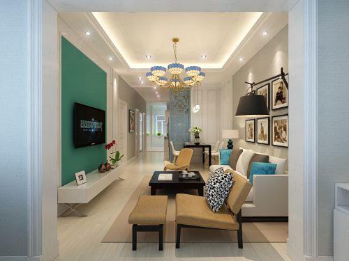 精致文艺现代风格客厅灯具装修设计