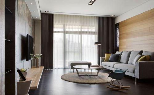 家装现代风格灰色客厅沙发装修设计