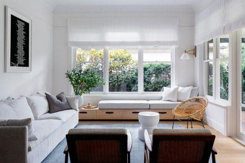 清新雅致现代风格客厅装修实景图