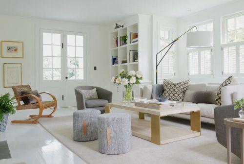 明亮温馨现代风格客厅茶几装修图片