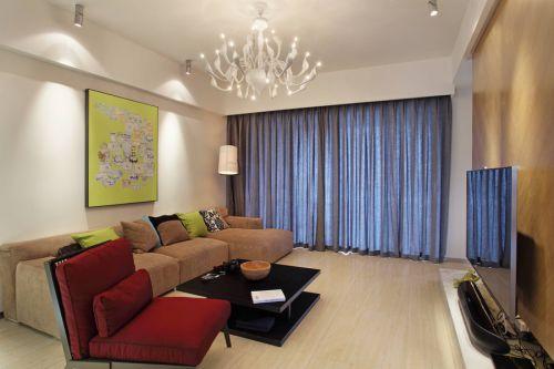 家装现代风格客厅灯具装修案例