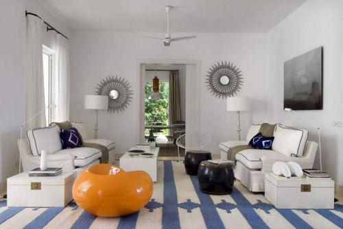 精致现代风格创意客厅装修效果图