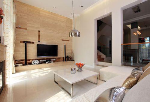 现代风格大气别墅设计客厅茶几效果图