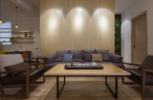 温润质朴现代风格客厅茶几装修效果图