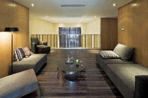 现代风格客厅灰色质感沙发装修效果图