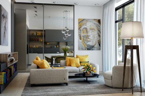 前卫现代感现代风格客厅沙发装修图片