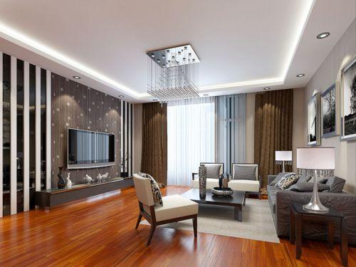 现代简约二居室客厅背景墙装修效果图大全