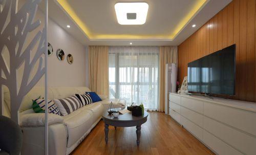 现代简约二居室客厅灯具装修图片