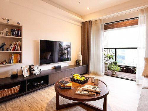 现代简约三居室客厅飘窗装修效果图大全