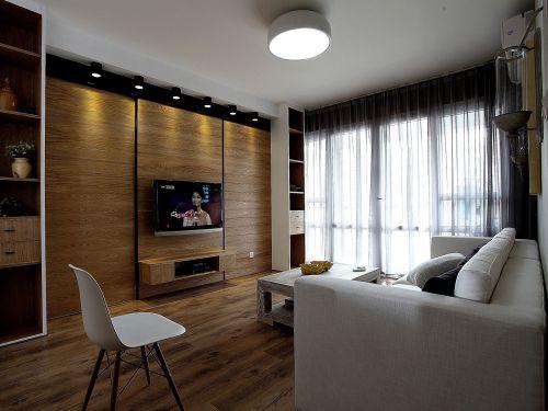 现代简约二居室客厅影视墙装修图片