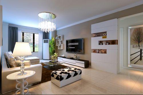 现代简约二居室客厅沙发装修图片