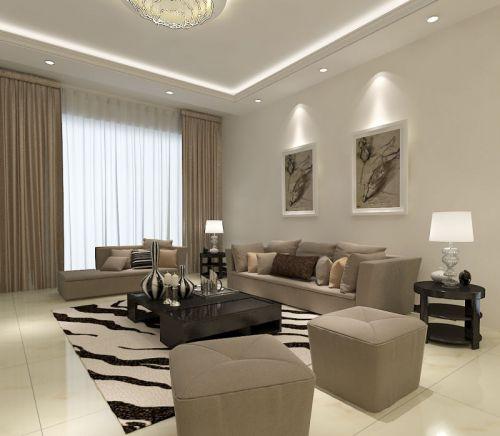 现代简约二居室客厅飘窗装修效果图