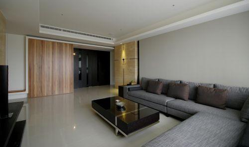 家装洁净现代风格客厅装修实景图