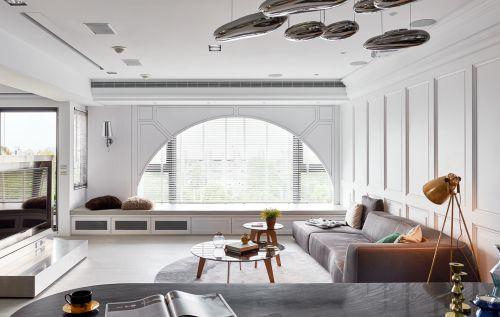 亮丽时尚现代风格客厅灯具装修实景图